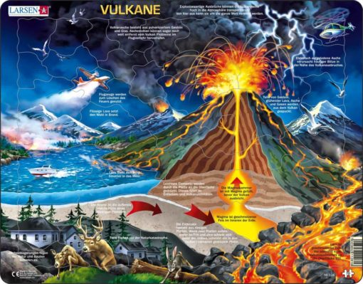 Maxi puzzle volcanoes: German - Larsen
