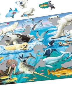 Maxi puzzle: wildlife on and around an arctic iceberg - Larsen