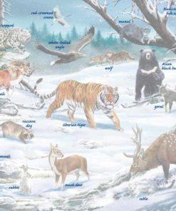 Maxi puzzle winter wildlife in Siberia and Northeast Asia - Larsen