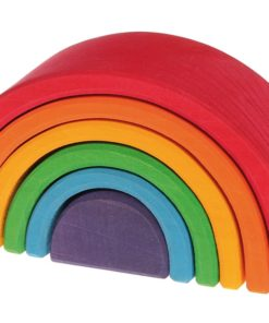 Handmade sustainable wooden toy Small rainbow Grimm's