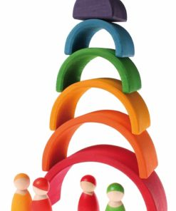 Handmade sustainable wooden toySmall rainbow (6 Pieces) - Grimm's