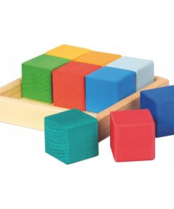 Handmade wooden blocks Wooden blocks: cubes quadrat kit - Glückskäfer