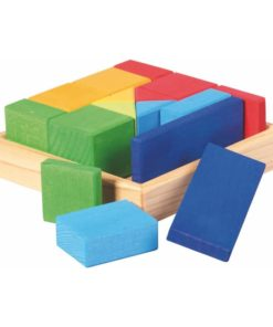 Wooden blocks- mixed shapes quadrat kit - Glückskäfer