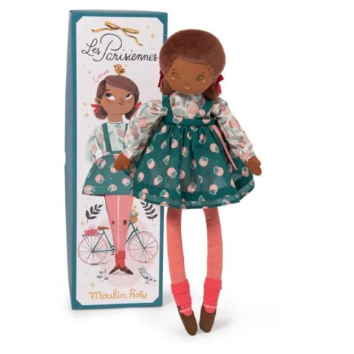 Fabric Doll Les Parisiennes: Cerise - Moulin Roty