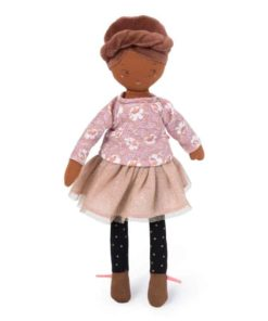 Fabric Doll Les Parisiennes: Rose - Moulin Roty