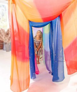 Giant playsilk: enchanted fire 90 x 275 cm - Sarah's Silks