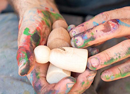 Sustainable handmade wooden toys - Teia Education Switzerland