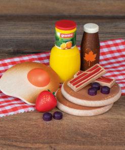 Wooden American breakfast - Erzi