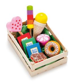 Wooden play food assorted candies - Erzi