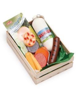 Wooden play food assorted sausages - Erzi