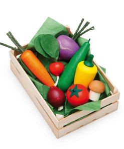 Wooden assorted vegetables - realistic wooden play food - Erzi