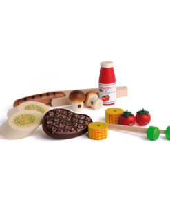 realistic wooden play food barbecue set - Erzi