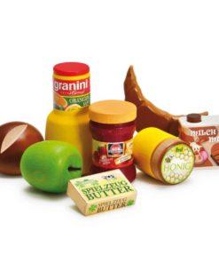 Realistic wooden play food breakfast assortment - Erzi