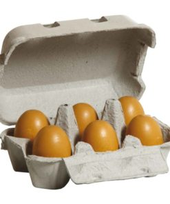 Wooden brown eggs in a box - Erzi
