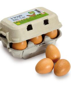 Wooden brown eggs play food - Erzi