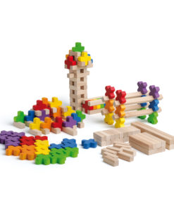 Wooden building log toy - Erzi