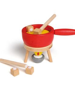 Wooden play food cheese fondue set - Erzi