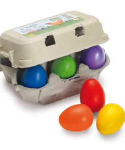 Wooden coloured eggs play food - Erzi