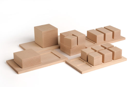 Wooden fractions of a whole educational game - Erzi