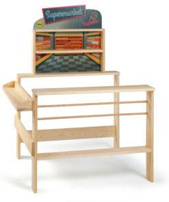 Wooden grocer's shop supermarket - shopping role play - Erzi