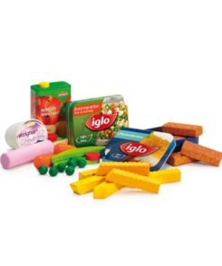 Realistic wooden play food lunchtime assortment - Erzi