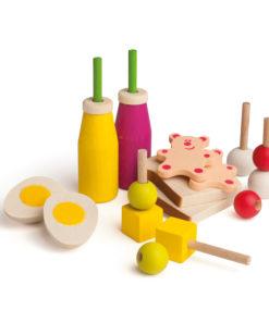 Realistic wooden play food picnic assortment- Erzi