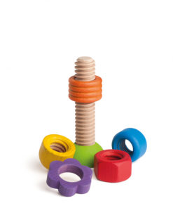 Wooden rainbow screw-turning game - Erzi