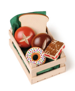 Wooden play food small assorted baked goods - Erzi