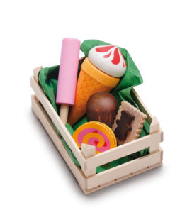 Wooden play food small assorted candies - Erzi