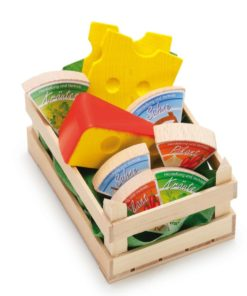 Wooden play food small assorted cheese - Erzi