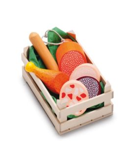 Wooden play food small assorted sausages - Erzi