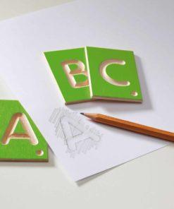 Wooden tactile letters capitals - Erzi