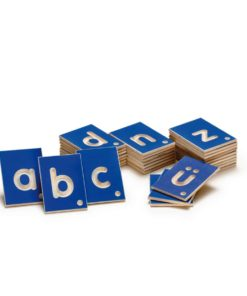 Wooden tactile letters lowercase - Erzi