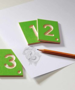 Wooden tactile numbers - Erzi