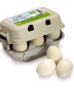 Wooden white eggs play food - Erzi