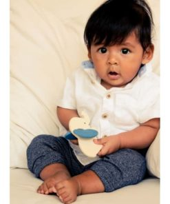 Blue Elephant Natural Teether : Organic Baby Toy - Lanco Barcelona