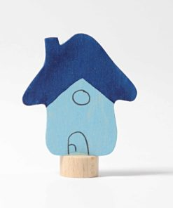 Blue house decorative figure - Grimm's