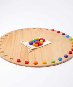 Waldorf inspired wooden calendar Circular disc month calendar - Grimm's