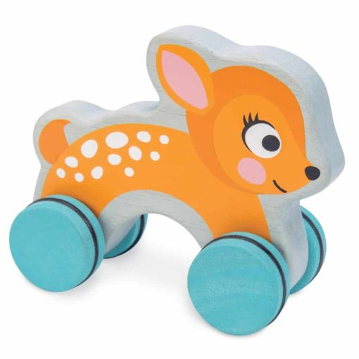 Sustainable wooden toy Dotty Deer - wooden push toy - Le Toy Van