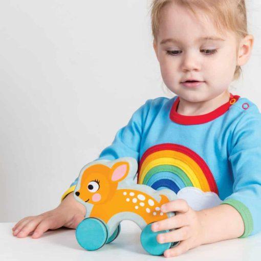 Dotty Deer - wooden push toy - Le Toy Van