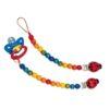 Dummy Chain Ladybug / Handmade wooden baby toy - Glückskäfer