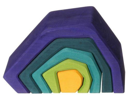 L'élement terre / Jeu de blocs à empiler en bois durable fait main - Grimm's