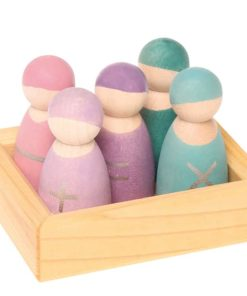 Handmade sustainable wooden educational toy Five math friends - Grimm's