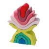 handmade wooden stacking blocks Flower stacker - Grimm's