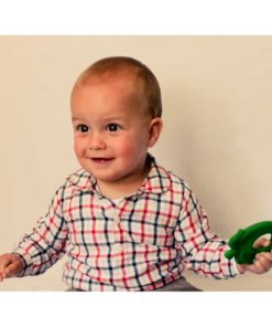 Green Apple Natural Teether : Organic Baby Toy - Lanco Barcelona