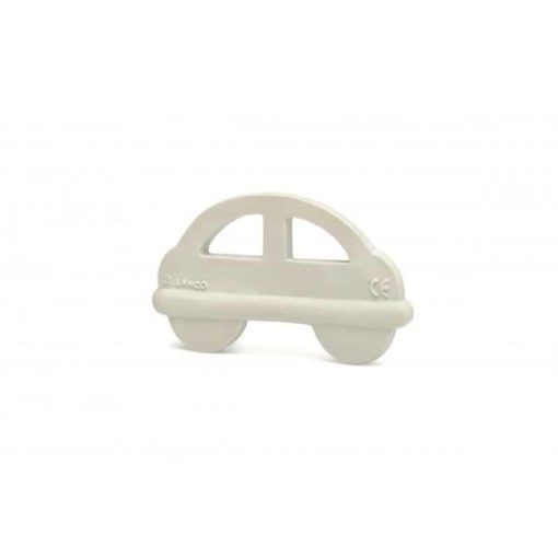 Grey Car Natural Teether : Organic Baby Toy - Lanco Barcelona