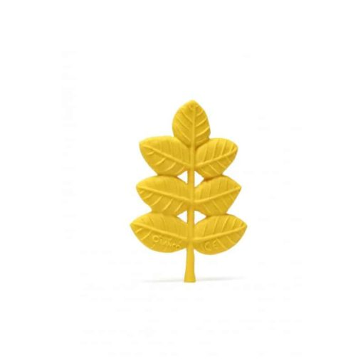 Organic Baby Toy - Gold Leaf Natural Teether Lanco