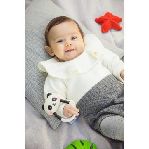 Jouet de dentition panda naturel pour bébé - Lanco