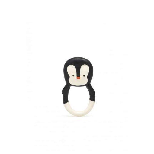 Jouet de dentition naturel en forme de pingouin : Jouet organique pour bébé - Lanco Barcelone