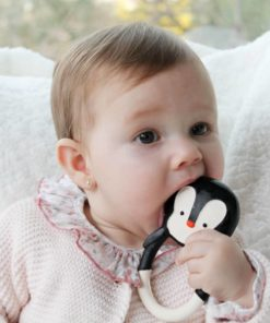 Pingouin Nui Natural Teether : Jouet de bébé organique - Lanco Barcelona